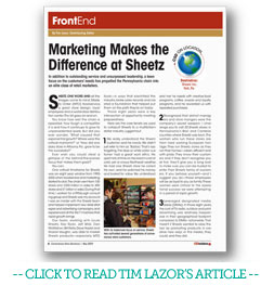 Sheetz Article By Tim Lazor